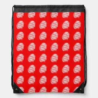 Happy Chinese New Year Pattern Drawstring Bag