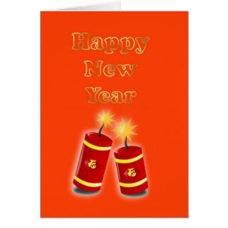 Happy Chinese New Year Vietnamese New Year Greeting Card