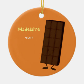 Happy Chocolate Bar | Christmas Ornament