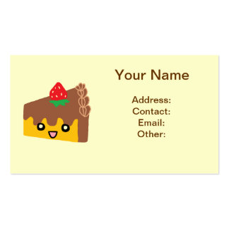 Happy Chocolate Cake Pack Of Standard Business Cards