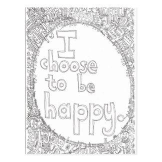 happy choice postcard