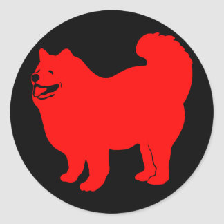 Happy Chow (Red) Classic Round Sticker