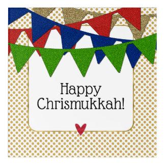 Happy Chrismukkah Christmas and Hanukkah Acrylic Print