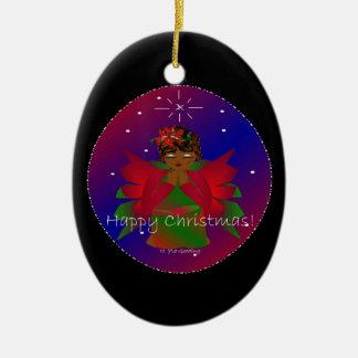 Happy Christmas Angel Baby Around the WorldI Ornament