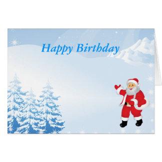 Happy Christmas Birthday Card
