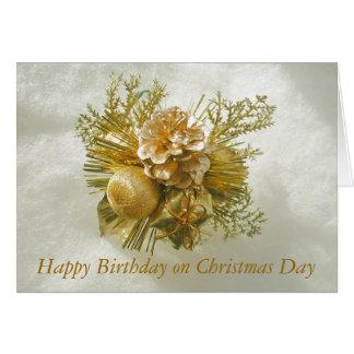 Happy Christmas Birthday Photo Card by Janz