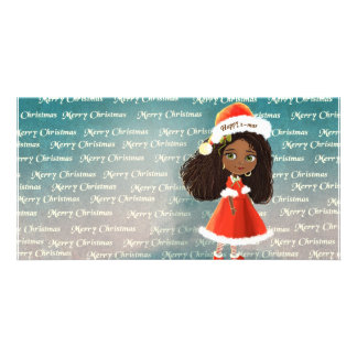 Happy Christmas Doll African Photo Card