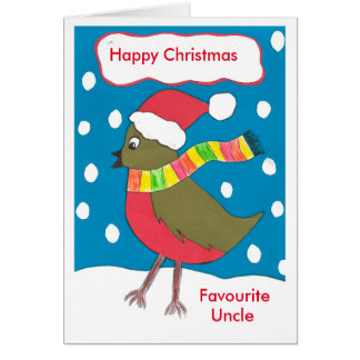 Happy Christmas favourite Uncle card