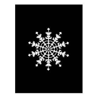 Happy Christmas - Ice Crystal - Snow Flake Postcard