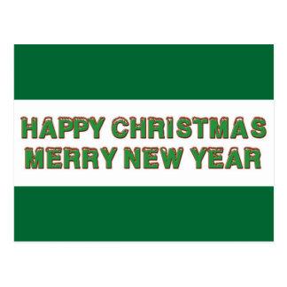 Happy Christmas Line Postcard