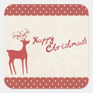 Happy Christmas Reindeer Stickers