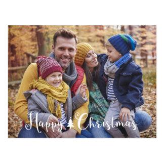 Happy Christmas Tree Postcard