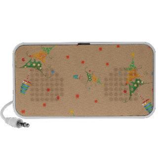 Happy Christmas Tree's (Doodle Speakers) Laptop Speaker