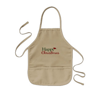 Happy Christmas (U.K.) Kids Apron