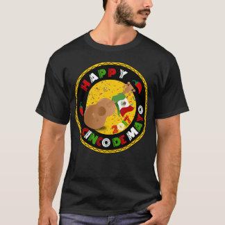 Happy Cinco de Mayo 2017 Guitar Mexican Flag Shirt