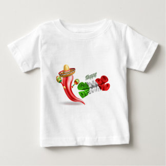 Happy Cinco De Mayo Chilli Pepper Design Baby T-Shirt