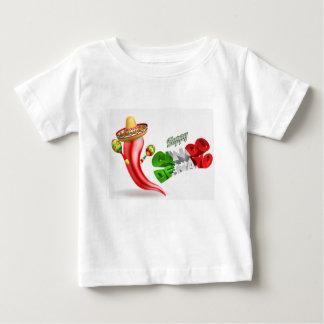 Happy Cinco De Mayo Chilli Pepper Design Baby T-Shirt