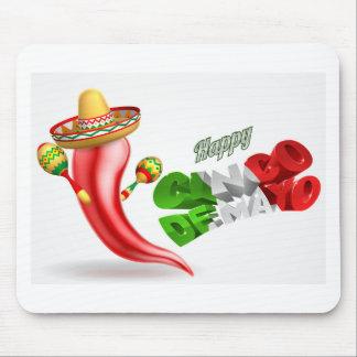 Happy Cinco De Mayo Chilli Pepper Design Mouse Pad