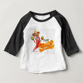 Happy Cinco De Mayo Chilli Pepper Mexican Design Baby T-Shirt