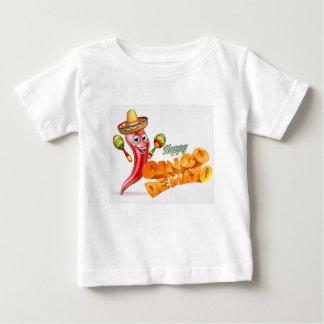 Happy Cinco De Mayo Chilli Pepper Mexican Design Baby T-Shirt