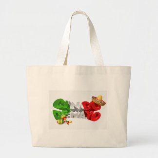 Happy Cinco De Mayo Design Large Tote Bag