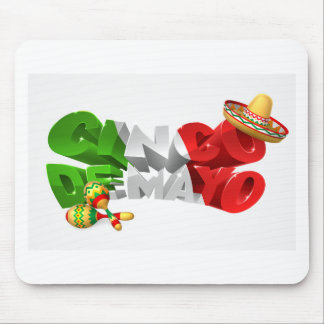 Happy Cinco De Mayo Design Mouse Pad