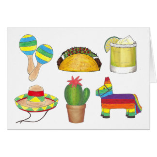 Happy Cinco de Mayo Mexican Fiesta Party Card