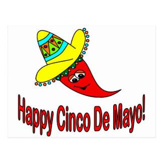 Happy Cinco De Mayo Postcard