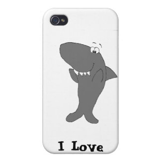 Happy Clapping Cartoon Shark iPhone 4 Cases