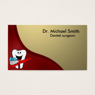 Happy clean tooth business card