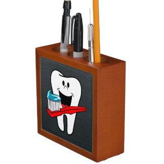 Happy clean tooth desk organiser