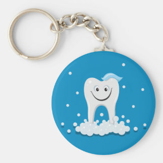 Happy clean tooth key chain