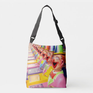 Happy Clown Faces Unisex Crossbody Bag. Crossbody Bag