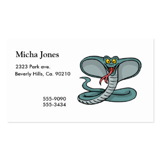 Happy Cobra Pack Of Standard Business Cards