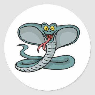 Happy Cobra Classic Round Sticker
