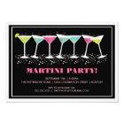 Happy Cocktails Martini Party Invitation