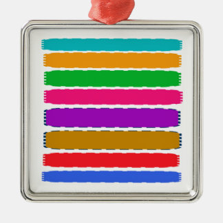 Happy Color therapy energy pattern Silver-Colored Square Decoration
