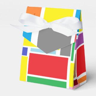 Happy Colorful Blocks Paper Gift Favor Box