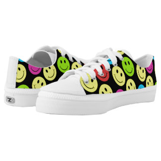 Happy Colorful Smiling Faces Printed Shoes