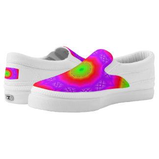 Happy Colors Custom Zipz Slip On Shoes