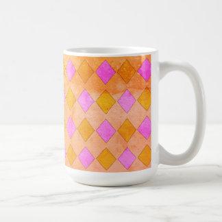 Happy-Color's-Diamond-Fun-Pink-Gold-Multi-Styles Coffee Mug