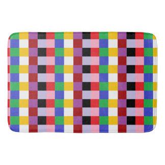 Happy Colors Pixel Squares Abstract Bathroom Mat