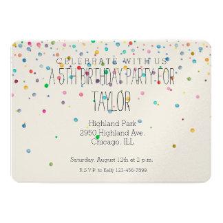 Happy Confetti Dots 13 Cm X 18 Cm Invitation Card