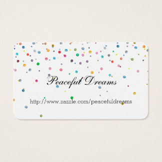 Happy Confetti Dots Business Card