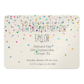 Happy Confetti Dots Card