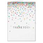 Happy Confetti Dots thank you Card