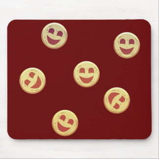 happy cookies faces mouse pad