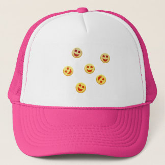 happy cookies faces trucker hat