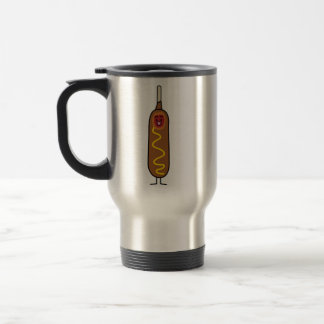 Happy Corn Dog Travel Mug