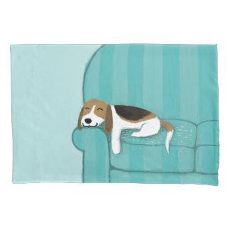Happy Couch Beagle | Cute Dog Pillowcase